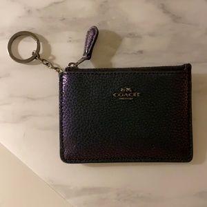 Snakeskin leather coach wallet